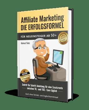 Kostenloses Fachbuch zu Affiliate Marketing für Neueinsteiger 50+